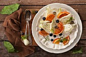 Fenchel-Orangen-Salat mit Blaubeeren