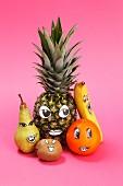 Verschiedene Obstgesichter