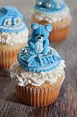 Cupcakes zur Geburt eines Jungen
