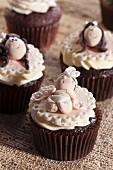 Cupcakes zur Geburt eines Mädchens