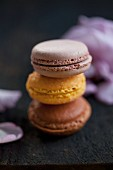 Three different macaroons