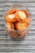 Coconut macaroons in a glass