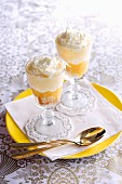Trifle with lemon quark and white chocolate