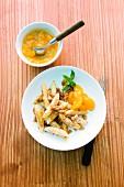 Süße Schupfnudeln mit Mandarinen