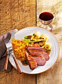 Duck breast with Hamburg parsely