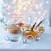 Apple wine punch for Christmas