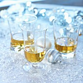 Three glasses of whisky for Christmas