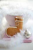 A gingerbread boot