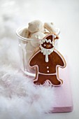 A gingerbread Father Christmas