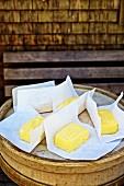 Fresh Alpine butter (Bregenzerwald, Vorarlberg, Austria)