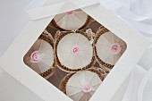 Wedding cupcakes in a gift box