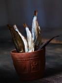 Sprats in a flower pot
