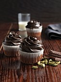 Chocolate cupcakes with cardamon