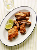 Glazed spare ribs with limes