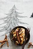 Pork fillet in cinnamon sauce with mushrooms (Christmas)
