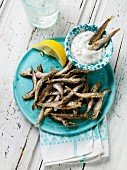 Fried anchovies with tartare sauce