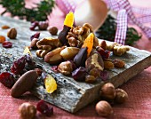 Nuts and dried fruits for Christmas