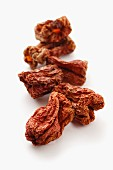 Sun Dried Peppers on a Bed of Raw Beans