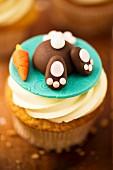 An Easter cupcake