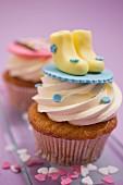 Cupcakes für eine Babyparty