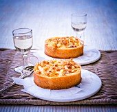 Normandy apple tarts with Calvados and walnuts