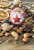 Tischdeko aus der Natur zu Weihnachten