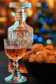 Whisky and amaretti biscuits