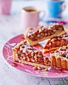 Slices of nut tart