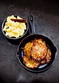 Potato pancakes with apple sauce