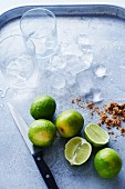 Ingredients for caipirinha