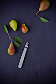 Pears and a peeler