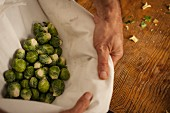 Brussels sprouts in an apron