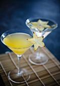 Two star fruit martinis