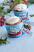 Vanilla muffins with icing (Christmas)