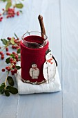 Mulled wine with cinnamon (Christmas)