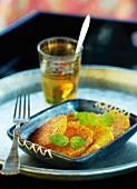 Oriental orange salad with cinnamon
