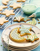 Decorated sugar biscuits for Christmas