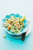 A seafood pasta salad