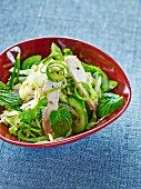 A green salad with chicken