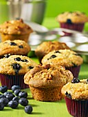 Apple muffins and blueberry muffins