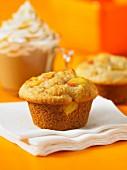 Peach and sour cream muffins