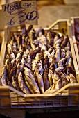 Smoked fish at a market (Italy)