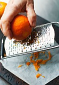 Grating orange peel