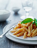 Pasta con le melanzane (pasta with an aubergine and tomato sauce)