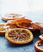 Caramelised orange slices