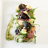 Vineyard snails with braised chicory and red onion compote