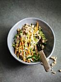 Oriental vegetable salad with peanuts