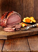 Roast beef with oven-roasted vegetables