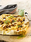 Onion flatbread with dill
