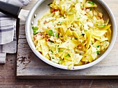 Cabbage Fleckerl (Austrian pasta) with bacon